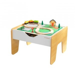 2-in-1 Activity Tafel In Grijs en Wit Met Bord - Kidkraft (10039)