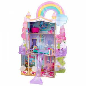 Rainbow Dreamers Eenhoorn Zeemeermin Poppenhuis met Ez Kraft Assembly