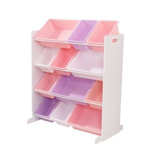 Kast met 12 opslagbakken (pastelkleuren) - Kidkraft (15450)