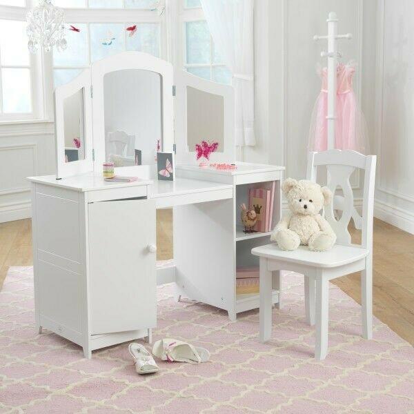 Kaptafel Voor Kinderen.Deluxe Kaptafel Met Stoel Wit Kidkraft 13018 Kidkraft Shop
